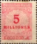 Sellos de Europa - Alemania -  Intercambio nxrl 0,20 usd 5000000 mark 1923