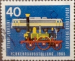 Stamps : Europe : Germany :  Intercambio aea2 0,20 usd 40 pf 1965