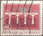 Sellos del Mundo : Europa : Alemania : Intercambio 0,30 usd 80 pf 1984