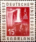 Sellos de Europa - Alemania -  Intercambio nxrl 0,35 usd 15 pf 1957