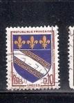 Stamps France -  Escudo de armas dela Ciudad de Troyes