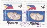Sellos de Asia - Filipinas -  Perlas