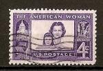 Sellos de America - Estados Unidos -  Homenaje a la Mujer Americana./ Papel tintado.