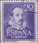 Stamps : Europe : Spain :  ruiz de alarcon