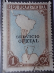 Sellos de America - Argentina -  República Argentina - Ubicación