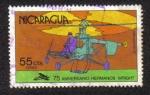 Stamps Nicaragua -  75 Aniversario Hermanos Wrtight