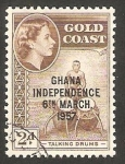 Stamps : Africa : Ghana :  Tambores