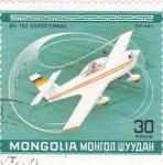 Sellos de Asia - Mongolia -  Avioneta deportiva