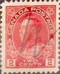 Sellos de America - Canadá -  Intercambio 0,20 usd 2 cent 1911
