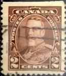 Sellos de America - Canadá -  Intercambio 0,20 usd 2 cent 1935