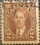 Stamps Canada -  Intercambio 0,20 usd 2 cent 1937