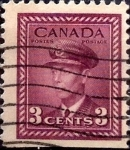 Stamps Canada -  Intercambio 0,20 usd 3 cent 1943
