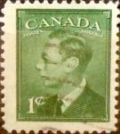 Sellos de America - Canadá -  Intercambio 0,20 usd 1 cent 1949