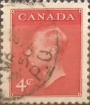 Stamps : America : Canada :  4 cent 1950