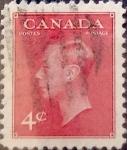 Stamps : America : Canada :  Intercambio 0,20 usd 4 cent 1949