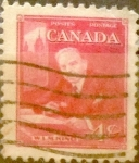 Stamps : America : Canada :  4 cent 1951