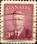 Stamps : America : Canada :  3 cent 1950