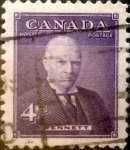 Stamps Canada -  Intercambio 0,20 usd 4 cent 1955