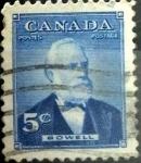 Sellos de America - Canadá -  Intercambio 0,20 usd 5 cent 1954