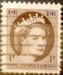 Stamps Canada -  Intercambio 0,20 usd 1 cent 1954