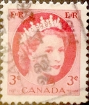 Stamps Canada -  Intercambio 0,20 usd 3 cent 1954