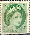 Sellos de America - Canadá -  Intercambio 0,20 usd 2 cent 1954