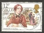 Sellos de Europa - Reino Unido -   937 - Europa Cept, Charlotte Brontë