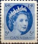Stamps : America : Canada :  Intercambio 0,20 usd 5 cent 1954
