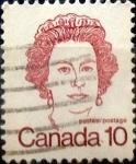 Stamps : America : Canada :  Intercambio 0,20 usd 10 cent 1976