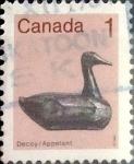 Sellos de America - Canadá -  Intercambio 0,20 usd 1 cent 1982