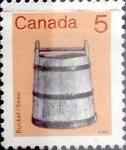 Stamps : America : Canada :  Intercambio 0,20 usd 5 cent 1982