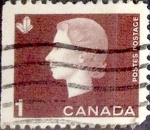 Sellos de America - Canadá -  Intercambio 0,20 usd 1 cent 1963