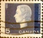 Stamps : America : Canada :  Intercambio 0,20 usd 5 cent 1962
