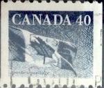 sello : America : Canadá : Intercambio crf 0,20 usd 40 cent 1990