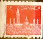 Stamps : America : Canada :  Intercambio 0,20 usd 36 cent 1987