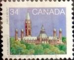 Stamps : America : Canada :  Intercambio 0,20 usd 34 cent 1985