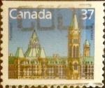 Stamps : America : Canada :  Intercambio 0,20 usd 37 cent 1987