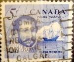 Sellos de America - Canadá -  Intercambio 0,20 usd 5 cent 1963