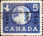 Sellos de America - Canadá -  Intercambio 0,20 usd 5 cent 1959