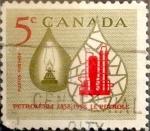 Sellos de America - Canadá -  Intercambio cxrf2 0,20 usd 5 cent 1958