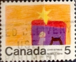 Stamps Canada -  Intercambio 0,20 usd 5 cent 1970