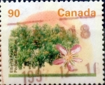 Sellos de America - Canadá -  Intercambio 0,45 usd 90 cent 1995