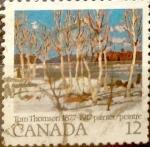 sello : America : Canadá : Intercambio nf4b 0,20 usd 12 cent 1977