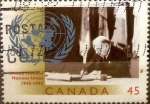 sello : America : Canadá : Intercambio 0,25 usd 45 cent 1995