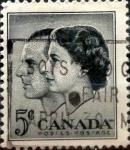 Sellos de America - Canadá -  Intercambio 0,20 usd 5 cent 1957