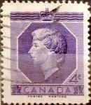 Stamps : America : Canada :  Intercambio 1,40 usd 4 cent 1953