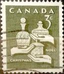 Stamps : America : Canada :  Intercambio 0,20 usd 3 cent 1965