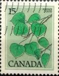 Sellos del Mundo : America : Canadá : Intercambio nf4xb1 0,20 usd 15 cent 1977
