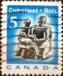 Sellos de America - Canadá -  Intercambio 0,20 usd 5 cent 1968