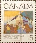 sello : America : Canadá : Intercambio crf 0,20 usd 15 cent 1980